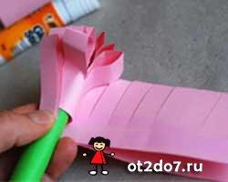 гиацинт из бумаги