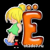 Алфавит для девочек. Клипарт png с прозрачностью