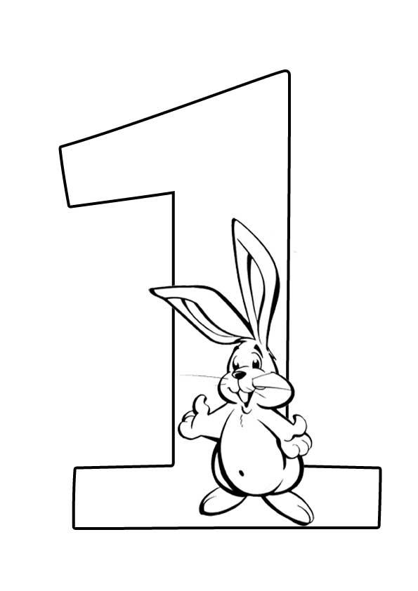 Картинки зайца из цифры