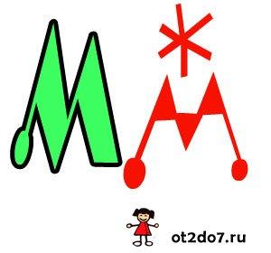 Шаблоны буквы М формата А4