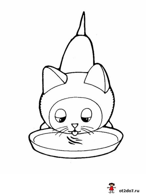 Котенок по имени Гав. Раскраски