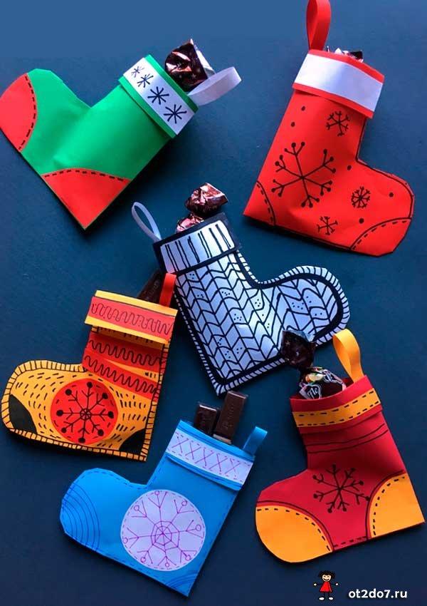 Рождественская гирлянда из носков
