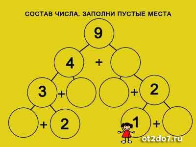 Состав числа. Заполни пустые места
