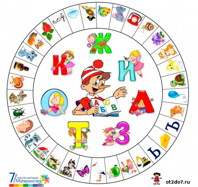 азбука на прищепках