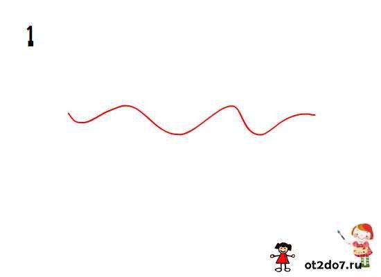 волнистая линия