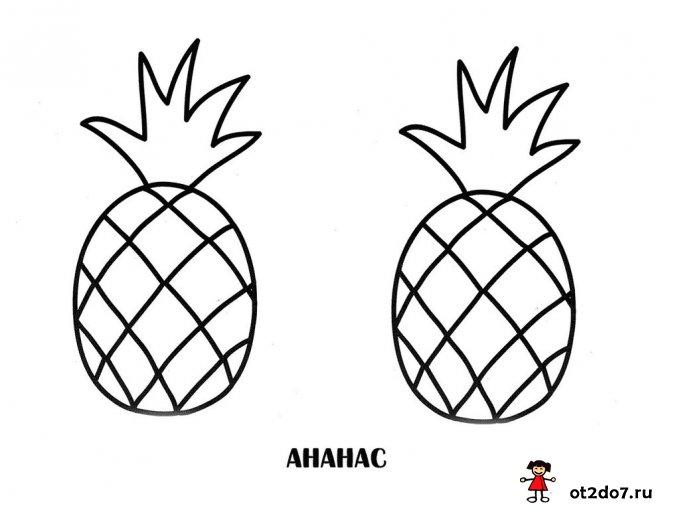 Двойные раскраски для ребенка и мамы. Овощи и фрукты
