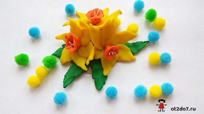 Нарциссы из пластилина